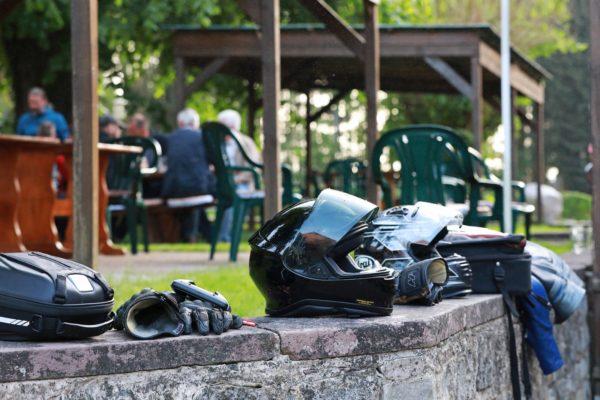 Motorradausrüstung an der Motorrad Pension Gut Externbrock